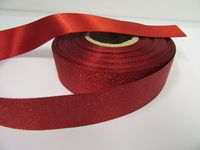 2 or 20 metres 25mm Glitter Christmas Satin Ribbon Xmas Roll Craft